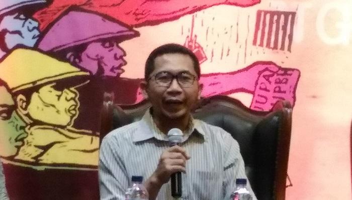 Peneliti Asosiasi Ekonomi Politik Indonesia (AEPI), Salamuddin Daeng. (Foto:: Nusantaranews.co/Achmad S)