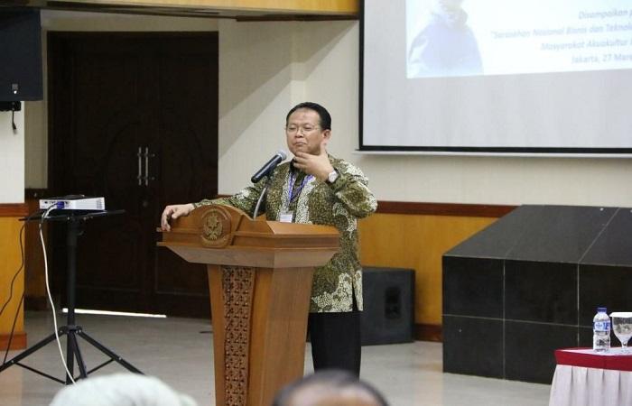 Sarasehan Nasional bisnis dan teknologi komoditas udang di Sekolah Tinggi Perikanan, Jakarta. (Foto: Istimewa)