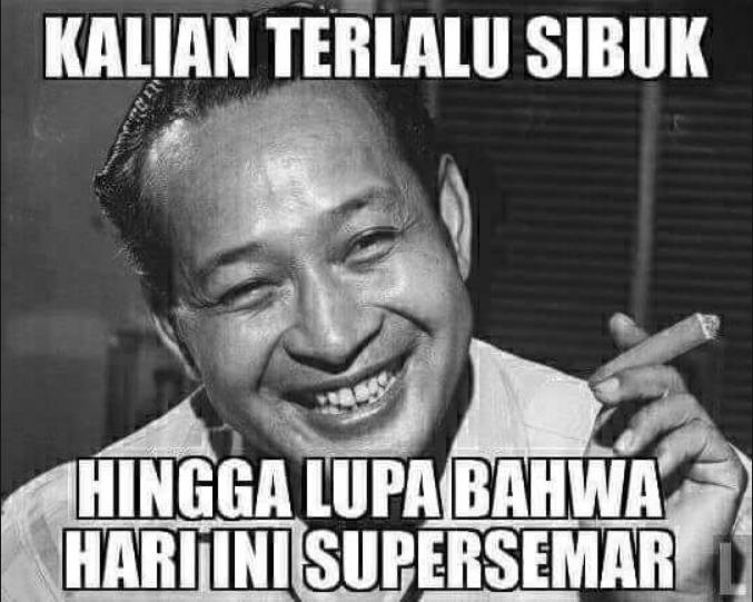 Meme presiden Soeharto (Foto Istimewa)