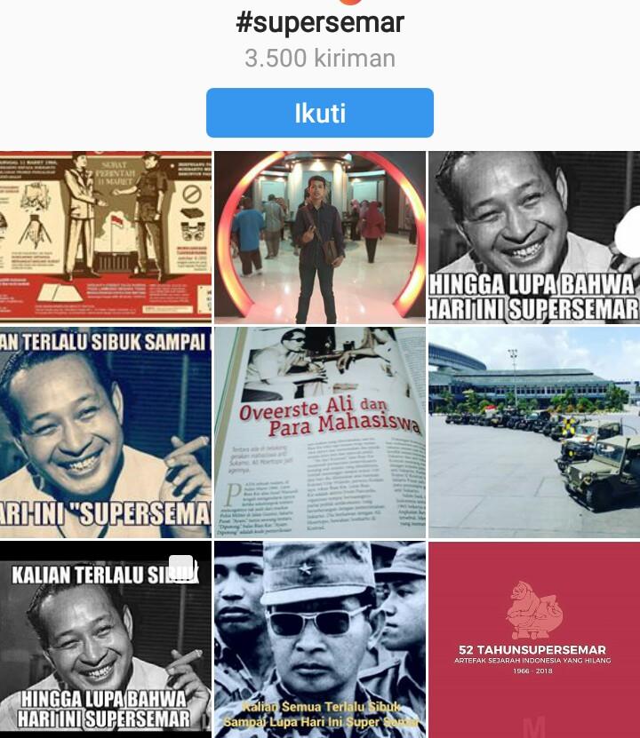 Meme presiden Soeharto di Instagram (Foto Istimewa)