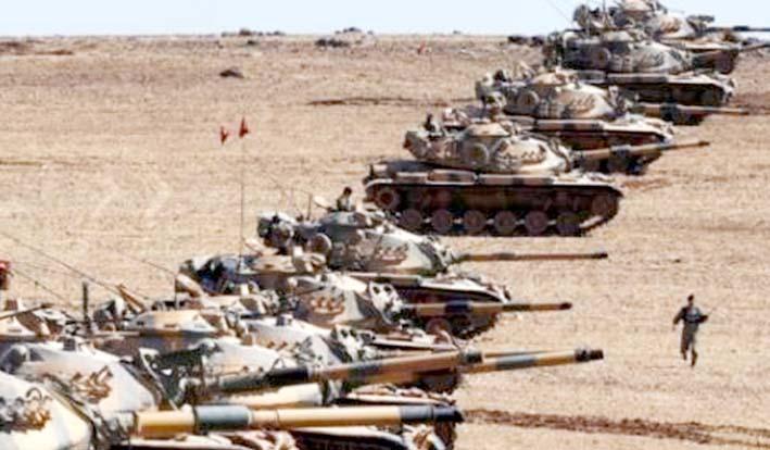 Ilustrasi Turki mengerahkan puluhan tanknya ke perbatasan Suriah