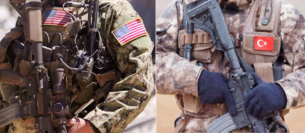 Pasukan AS dan Turki di Suriah