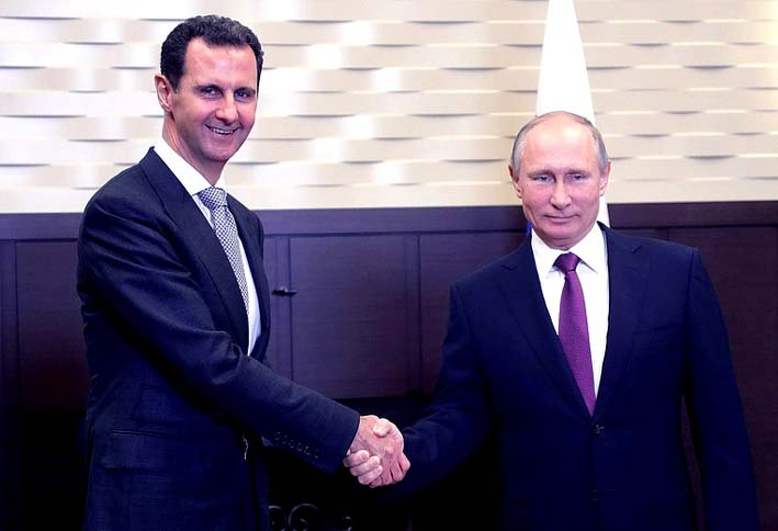 Presiden Bashar Assad dan Presdien Vladimir Putin