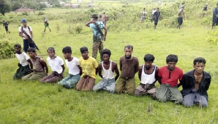 Warga Rohingya menjadi korban kebrutalan aparat Myanmar. (Handout via REUTERS)