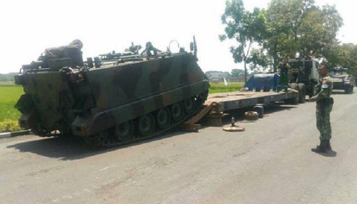 Yonif Mekanis Raider 413 Bremoro Kostrad menerima kedatangan kendaraan tempur Tank M113 gelombang II.