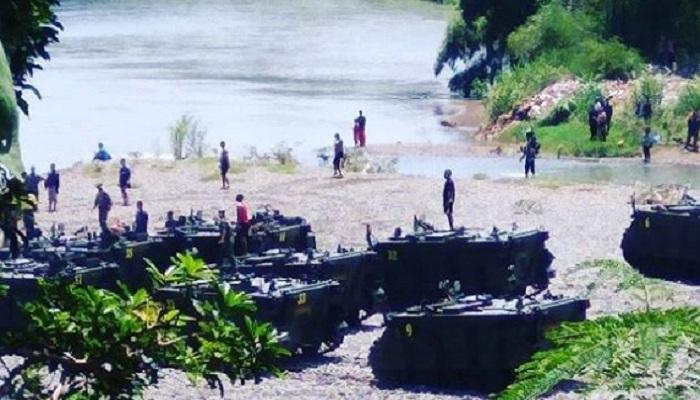 Lokasi Tank M11A1-BE yang tenggelam di Sungai Bogowonto Purworedjo.
