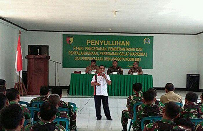 Test urine Pencegahan, Pemberantasan, Penyalahgunaan dan Peredaran Gelap Narkoba (P4GN) di Kabupaten Pacitan, Selasa (5/3/2018). (Foto: Istimewa)