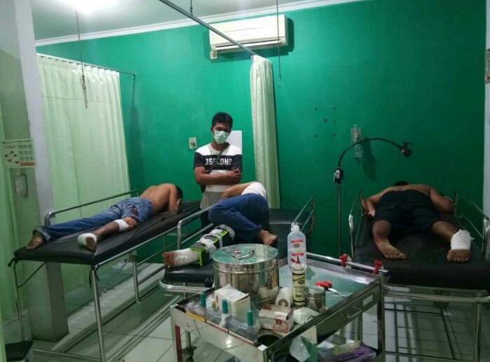 Tiga pelaku dirawat di rumah sakit (Foto Nusantaranews.co/Nurcholis)