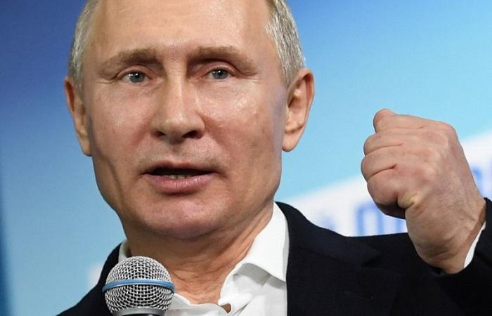 Vladimri Putin kembali terpilih menjadi Presiden Rusia untuk kedua kalinya. (Foto: AFP/Yuri Kadobnov)