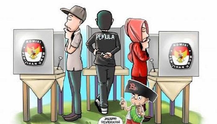 Lembaga Kajian Pemilu Indonesia menggelar Survei Exit dalam rangka untuk mengetahui opini publik yang dilakukan sesaat sebelum masuk dan setelah keluar dari bilik suara, exit poll digunakan sebagal instrumen untuk mengetahui kecenderungan pola perilaku pemilih.. (Foto: Ilustrasi/Mahdi Alhabib)