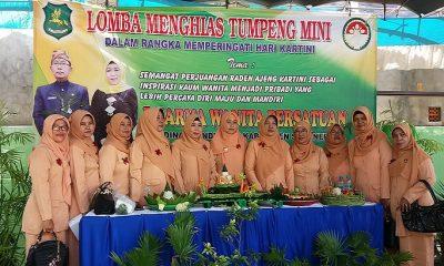 Kegiatan Lomba Menghias Tumpeng Mini Dharma Wanita Persatuan di Lingkungan Dinas Pendidikan Sumenep. (Foto: Danial Kafi/NusantaraNews)