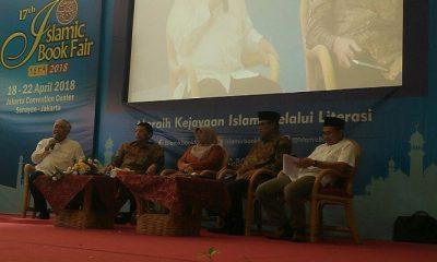Bedah Buku KH A Hasyim Muzadi Islamic Book Fair 2018 di Jakarta Convention Center (JCC) Senayan Jakarta, Jumat (20/4). (Foto: Istimewa)