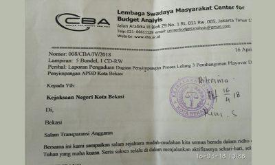 CBA dan KAKI Publik Laporkan 2 Kasus Dugaan Korupsi Ke Kejari Kota Bekasi. (FOTO: NUSANTARANEWS.CO)
