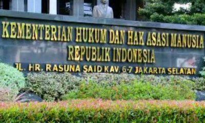Gedung Kementerian Hukum dan HAM (Kemenkumham). (Foto: Net)