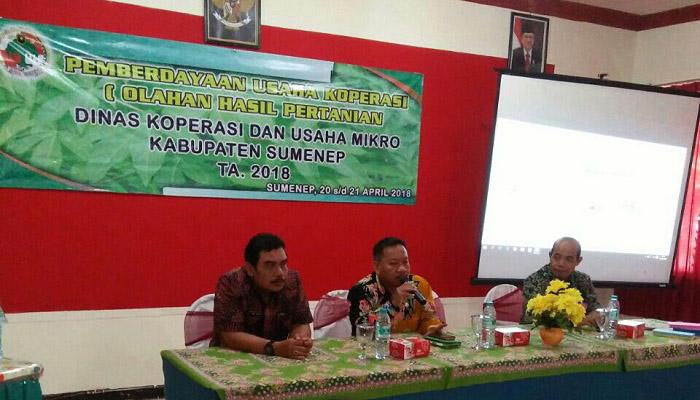 Diskop dan UM mengadakan pelatihan bimbingan pemberdayaan usaha koperasi bidang olahan hasil pertanian. (Foto: Danial Kafi/NusantaraNews)