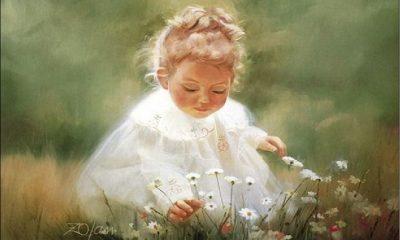 Gadis Kecil Memetik Bunga di Kebun. (Ilustrasi: NUSANTARANEWS.CO)