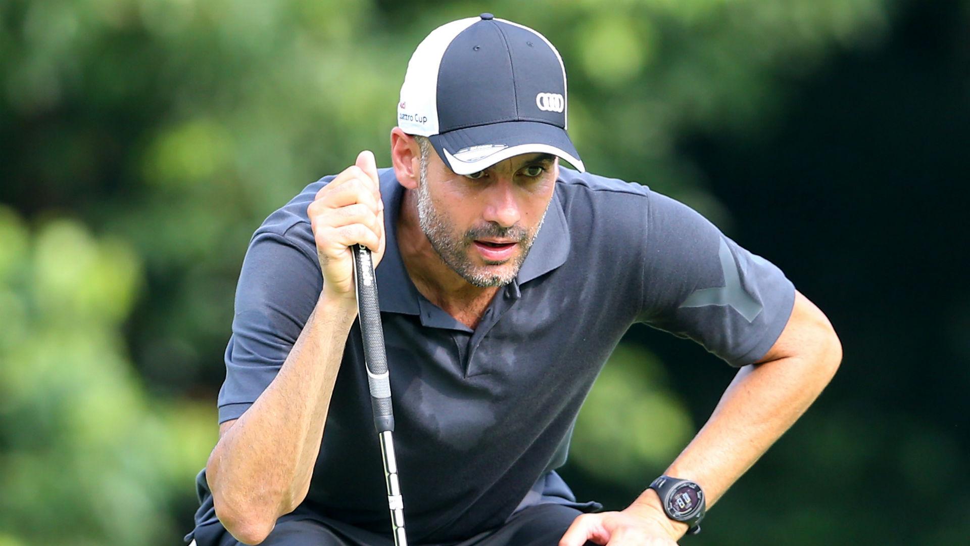 Pelatih City Pep Guardiola Saat Bermain Golf (Foto Sky Sport)