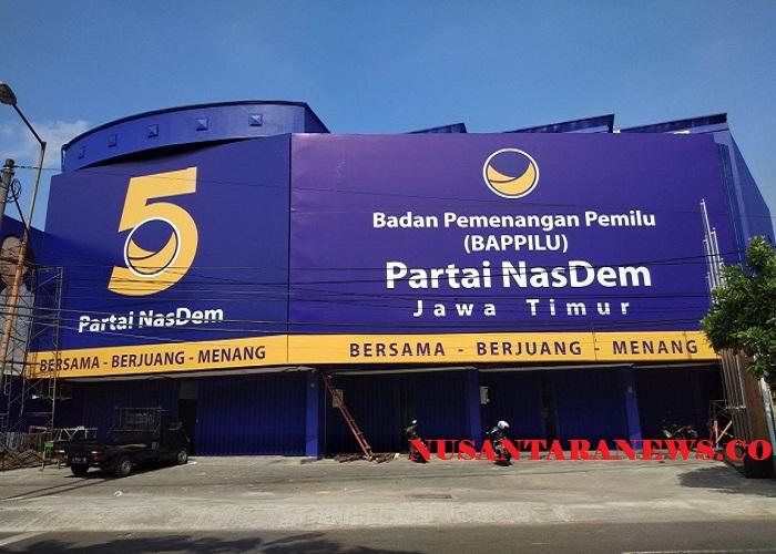 Kantor DPW Partai NasDem Jawa Timur. (Foto: Setya/NusantaraNews)