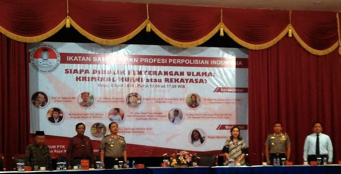 Ikatan Profesi Polisi Gelar Seminar Bertajuk Aktor Dibalik Penyerangan Ulama (Foto Nusantaranews.co)