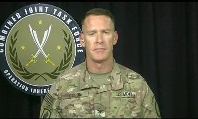 Juru bicara pasukan Operasi Inherent Resolve Amerika Serikat dan koalisi di Suriah dan Irak, Kolonel Angkatan Darat Ryan Dillon