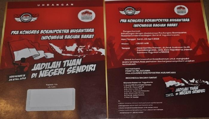 Kongres Boemipoetra Nusantara. (Istimewa)