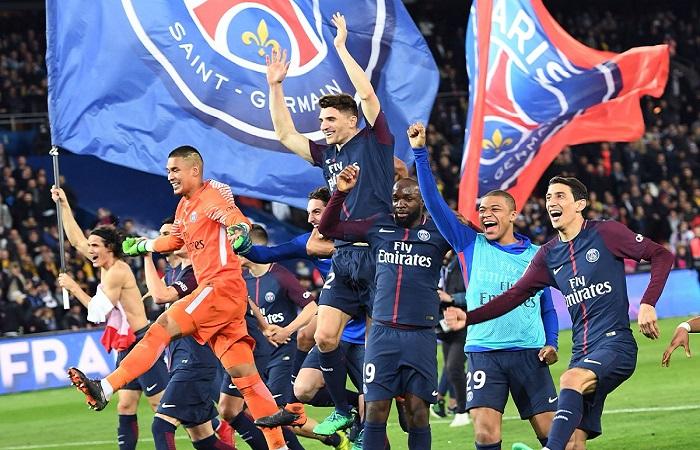 Kumpulkan 87 Poin Sudah Cukup Antarkan PSG Jadi Kampiun Ligue-1 Musim 2017-2018. (Foto: Twitter/PSG)