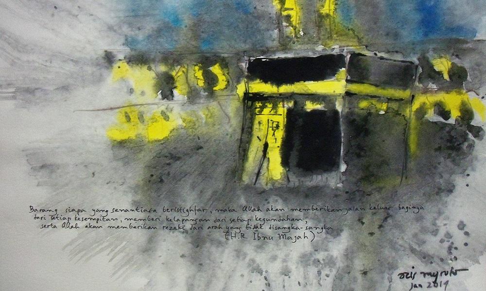 Lukisan Istighfar. (FOTO: galeri lukisan caknug)