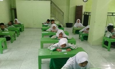 Madrasah Diniyah Takmiliyah menggelar ujian akhir serentak dimulai 9 April-12 April 2018. (Foto Dok. NusantaraNews)