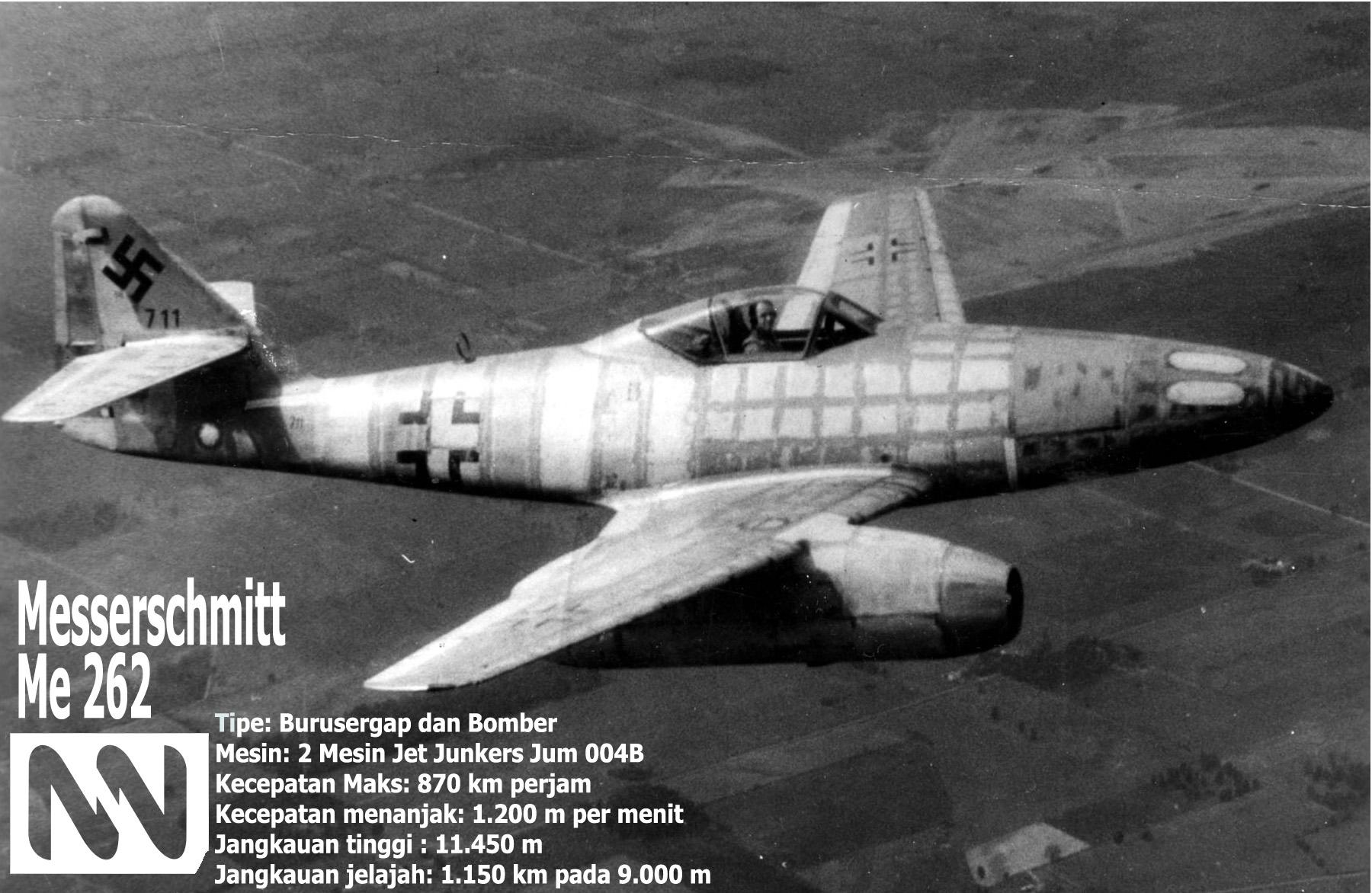 Messerschmitt Me 262 Jet Tempur Pertama Dunia (Foto Dok. Nusantaranews.co)
