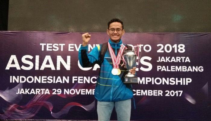 Muhammad Fatah Prassetyo, mahasiswa asal STAIN Bengkalis akan mewakili Indonesia di ajang Asian Games 2018 dalam cabang lomba Fencing (Anggar). (Foto: Istimewa)
