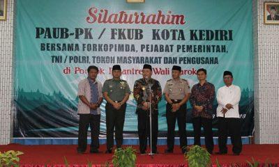 Paguyuban Antar Umat Beragama (PAUB) menggelar silaturahim dengan pejabat, tokoh agama dan masyarakat di Kediri, Jawa Timur. (Foto: Istimewa)