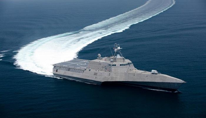 Kapal tempur lepas pantai jenis LCS 17 atau USS Indianapolis milik Angkatan Laut AS yang berbasis di negara bagian Indiana. (Foto: Naval Today)