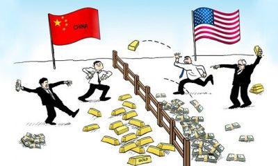 Peluang Indonesia Dalam Ketegangan Hubungan Dagang AS dan Cina. (FOTO: NUSANTARANEWS.CO)