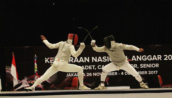 Salah satu aksi Muhammad Fatah Prassetyo di olahraga Fencing (Anggar). (Foto: Istimewa)
