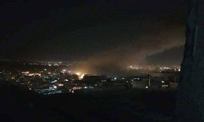 Efek serangan udara rudal jelajah pasukan AS, Inggris dan Perancis di Suriah. (Foto: Iran Corner)