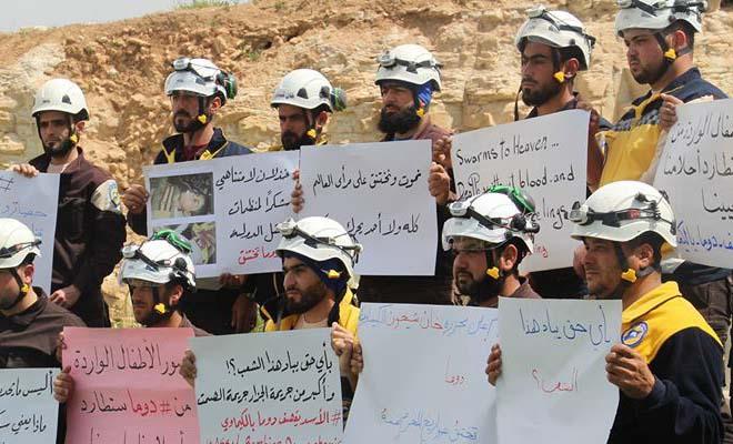 Relawan White Helmets menuduh Rusia dan Iran sebarkan zat saraf atau kimia di kawasan Ghouta Timur, Douma, Suriah. (Foto: Twitter/White Helmets)