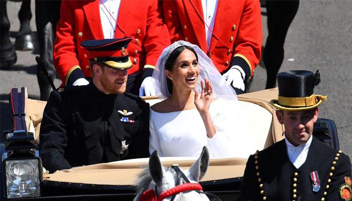 Raut Kebahagiaan Pangeran Harry dan Meghan di Hari Pernikahannya. (FOTO: NUSANTARANEWS.CO/By @punjabkesari)