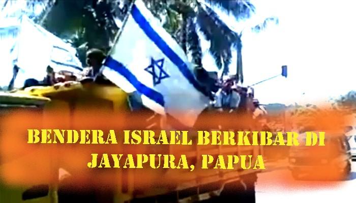 Bendera Israel di Papua. (FOTO: NUSANTARANEWS.CO)
