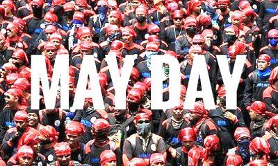 may day, may day 2018, hari buruh, buruh indonesia, buruh seluruh indonesia, aksi demonstrasi buruh, tuntutan buruh, lalu lintas,