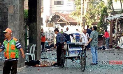 Kondisi usai ledakan bom (Foto Tri Wahyudi/Nusantaranews.co)