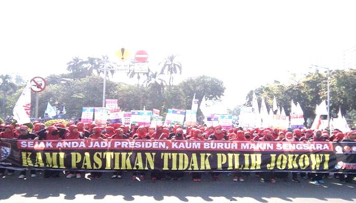 Dalam 3 Tahun Terakhir Jokowi Dinilai Tidak Berpihak Kepada Buruh
