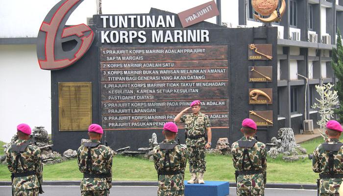kasal, angkatan laut, marinir, prajurit marinir, tni angkatan laut, laksamana ade supandi