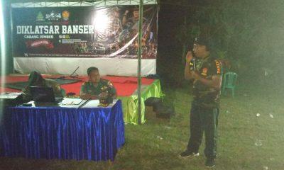 Kader Banser Jember Mendapat Pelatihan Bela Negara dari TNI