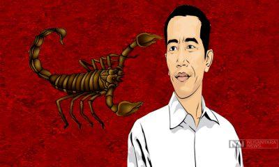 Kalajengking dan Jokowi (Ilustrasi Nusantaranews
