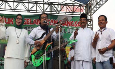 Jadi Jurkam, Band Wali Ciptakan Lagu Khusus Untuk Cagub Gus Ipul. (FOTO: NUSANTARANEWS.CO/Setya)