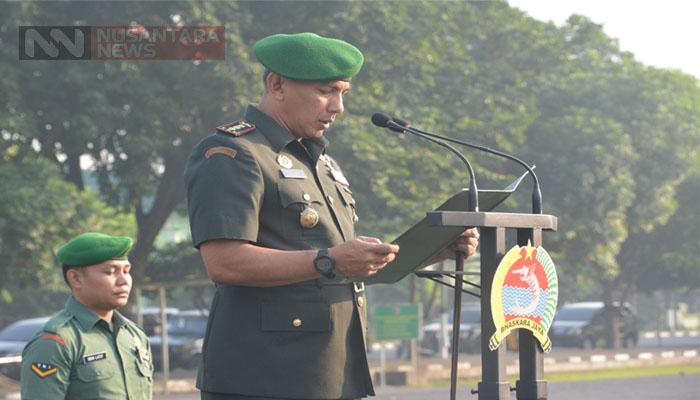 Kolonel Zulkifli Siagakan Pasukan Menjelang Kunjungan Istri Wapres RI. (FOTO: NUSANTARANEWS.CO/Istimewa)