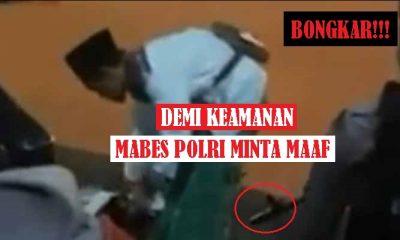 Mabes Polri Minta Maaf Sebab Paksa Pemuda Bersarung Buka Kardus. (Ilustrasi: NUSANTARANEWS.CO)
