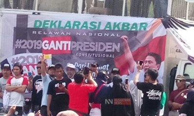 Maklumat Deklarasi Relawan Ganti Presiden 2019. (FOTO: NUSANTARANEWS.CO)