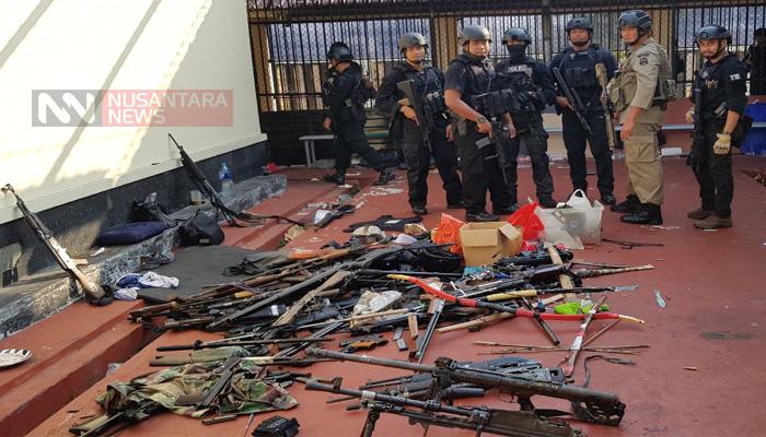 Senjata-senjata yang Digunakan Tahanan Teroris di Mako Brimob