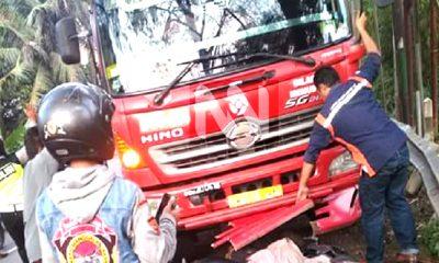kecelakaan, kecelakaan motor, kendaraan truk, jalan purwakarta, purwakarta, kecelakaan purwakarta,